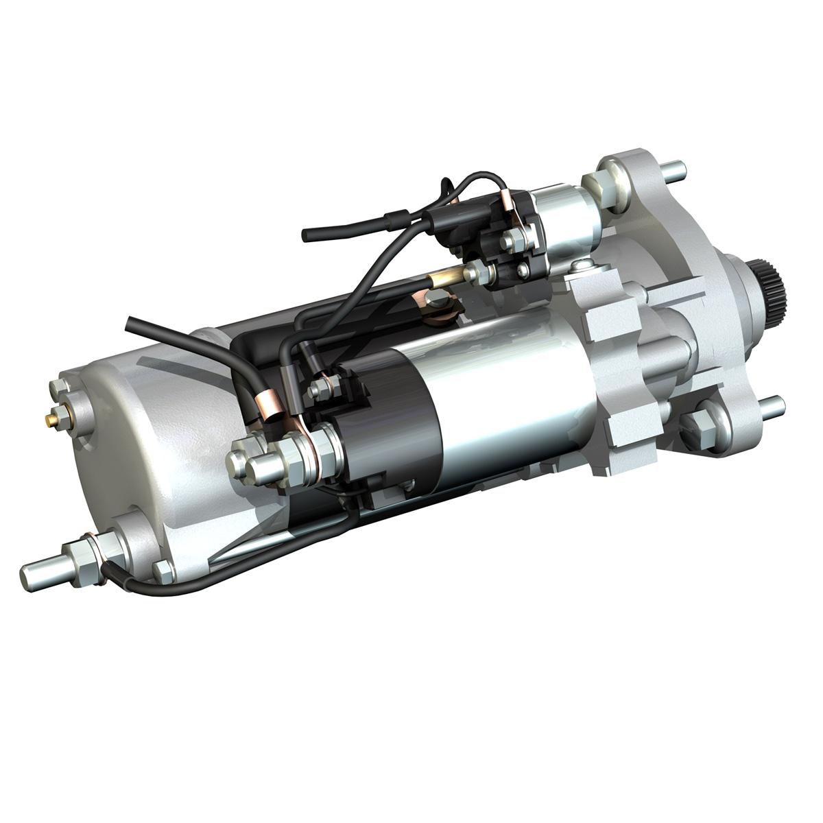 starter motor 02 3d model 3ds fbx c4d lwo obj 201928