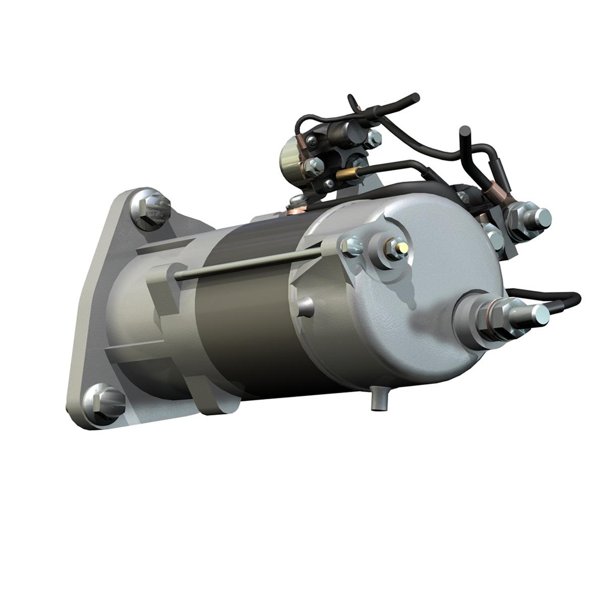 starter motor 02 3d model 3ds fbx c4d lwo obj 201929