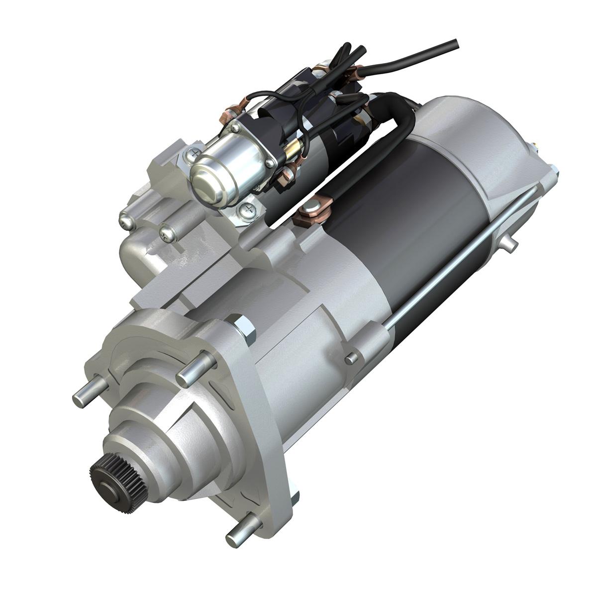 starter motor 02 3d model 3ds fbx c4d lwo obj 201930