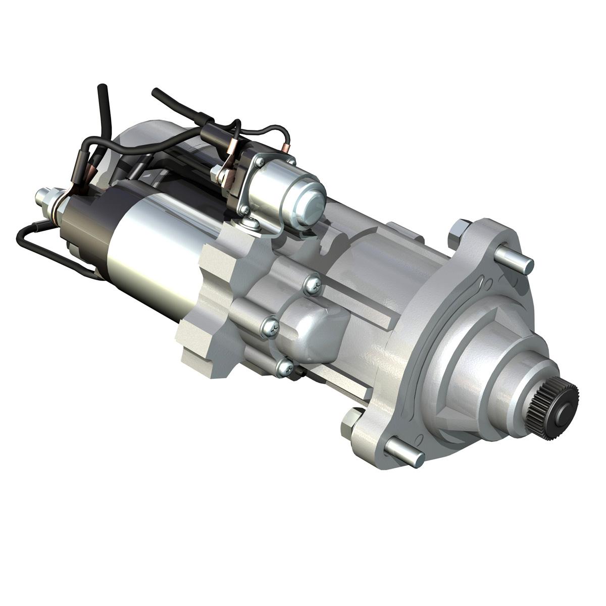 starter motor 02 3d model 3ds fbx c4d lwo obj 201931