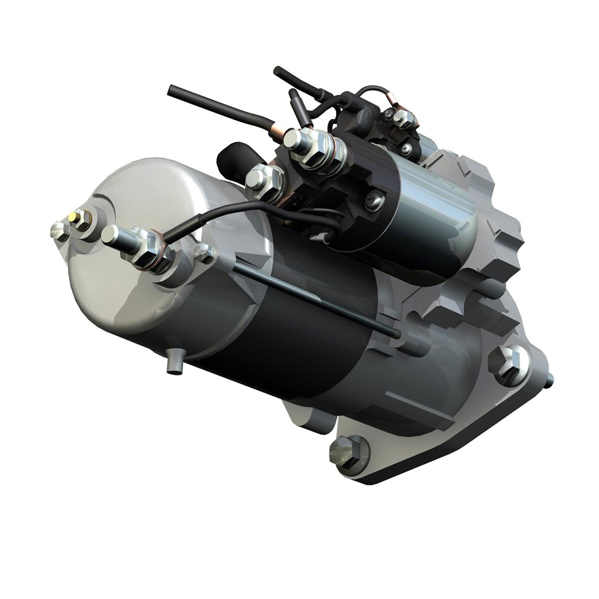 starter motor 02 3d model 3ds fbx c4d lwo obj 201932