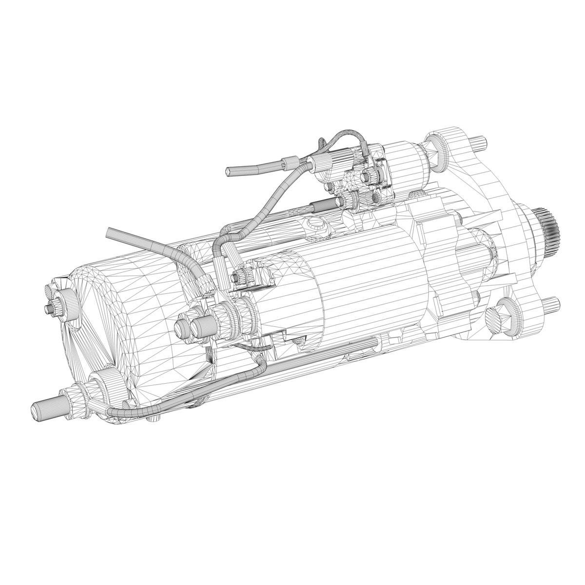 starter motor 02 3d model 3ds fbx c4d lwo obj 201934