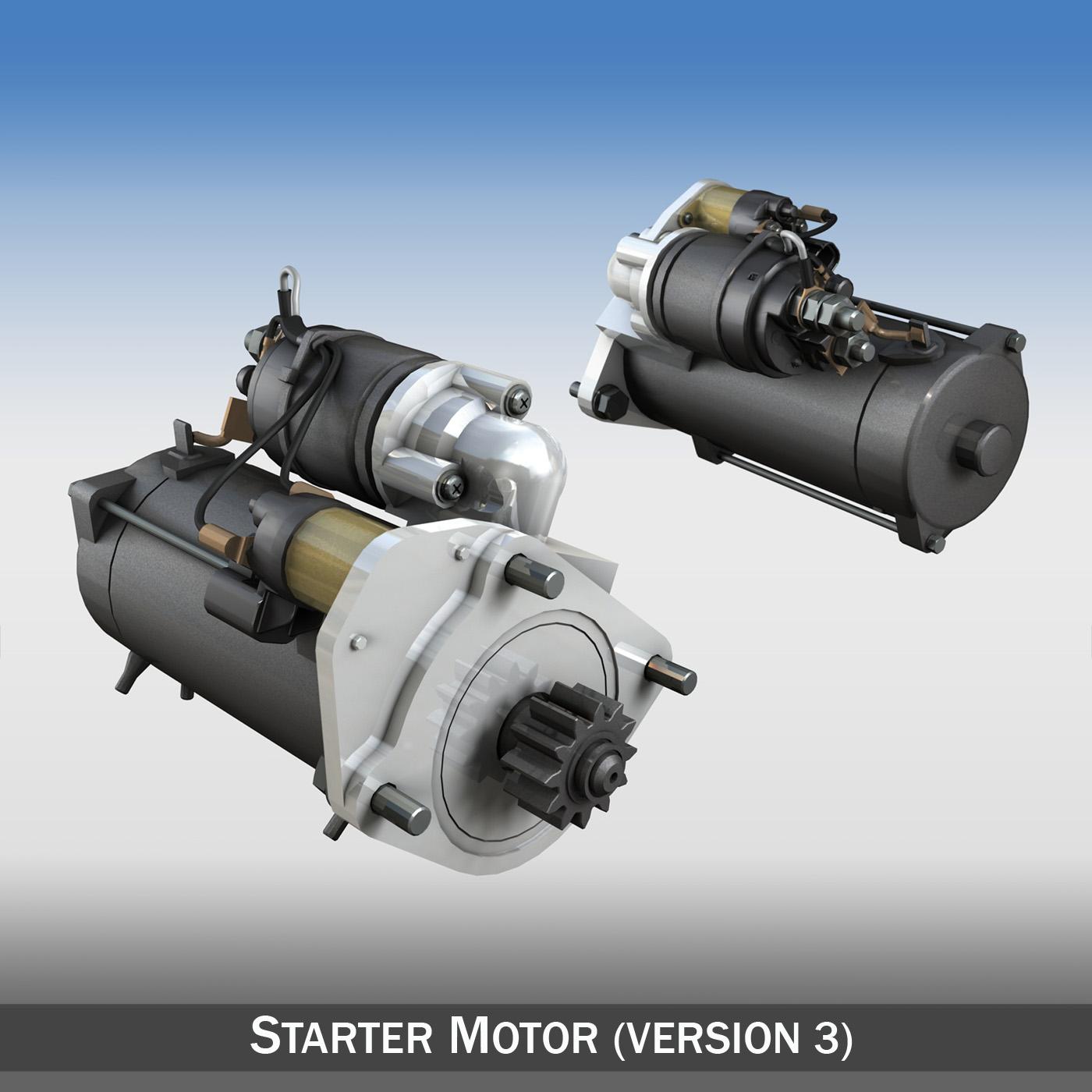 starter motor 03 3d model 3ds fbx c4d lwo obj 201936
