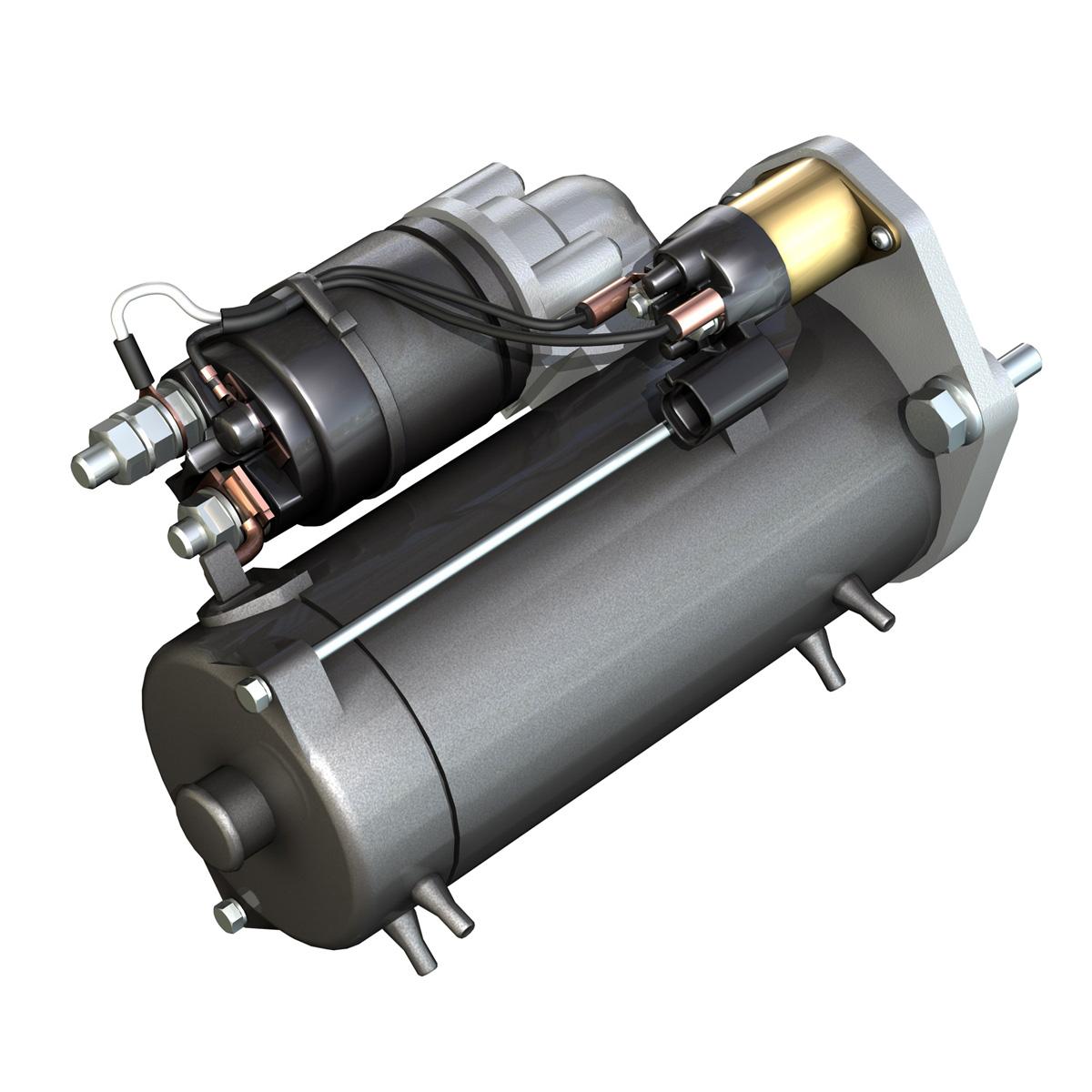 starter motor 03 3d model 3ds fbx c4d lwo obj 201937
