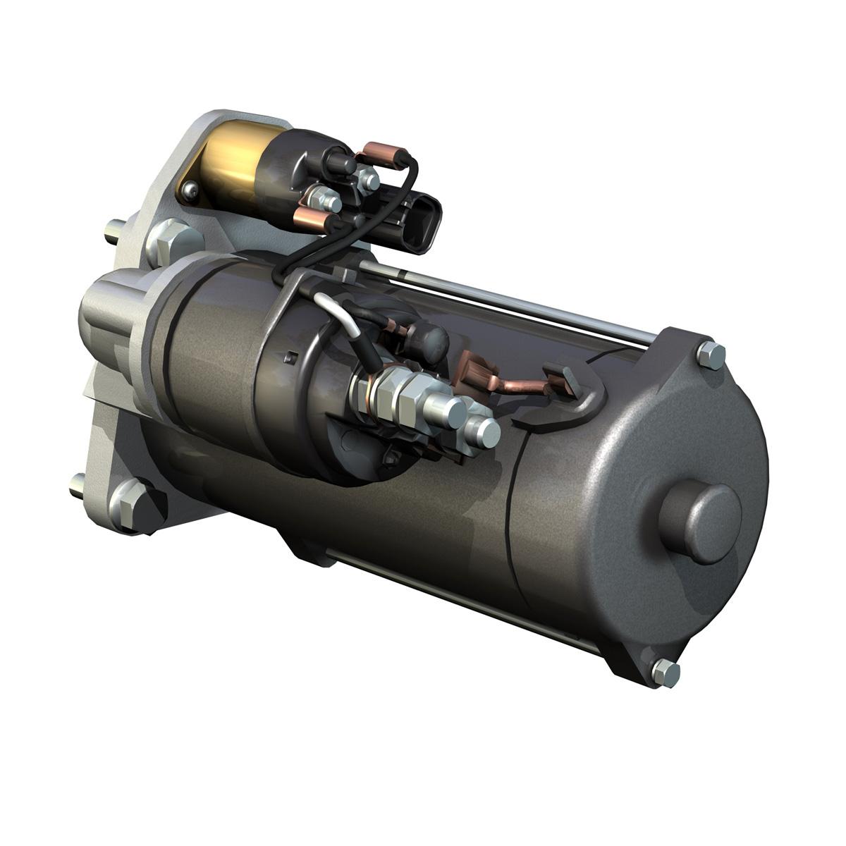 starter motor 03 3d model 3ds fbx c4d lwo obj 201938