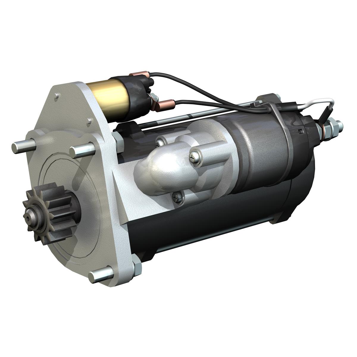 starter motor 03 3d model 3ds fbx c4d lwo obj 201939