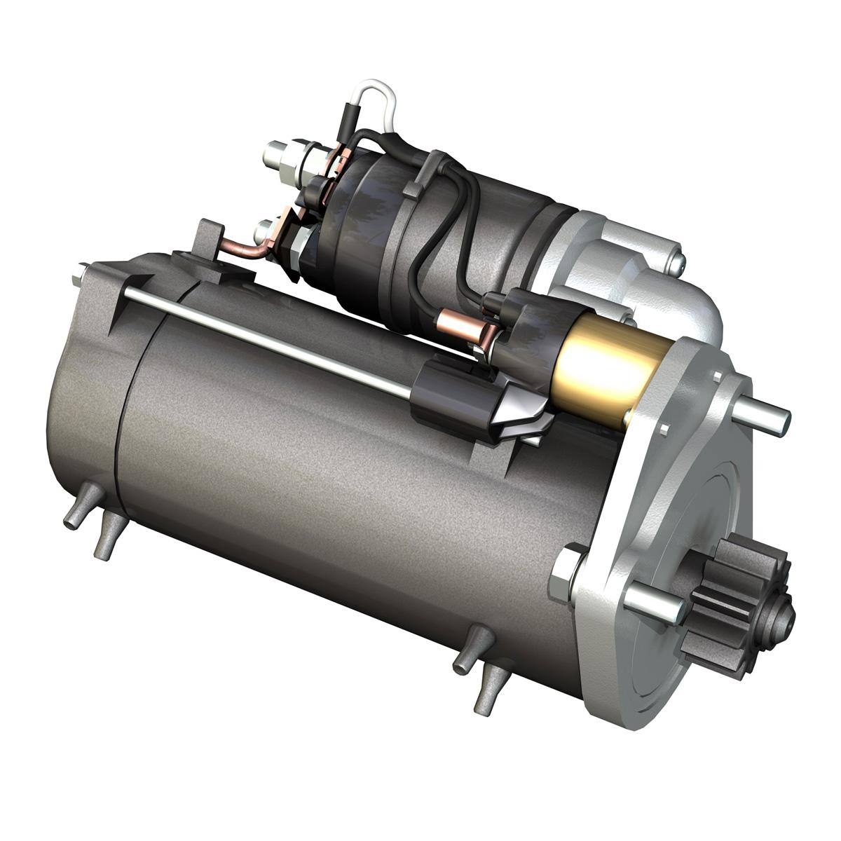starter motor 03 3d model 3ds fbx c4d lwo obj 201940