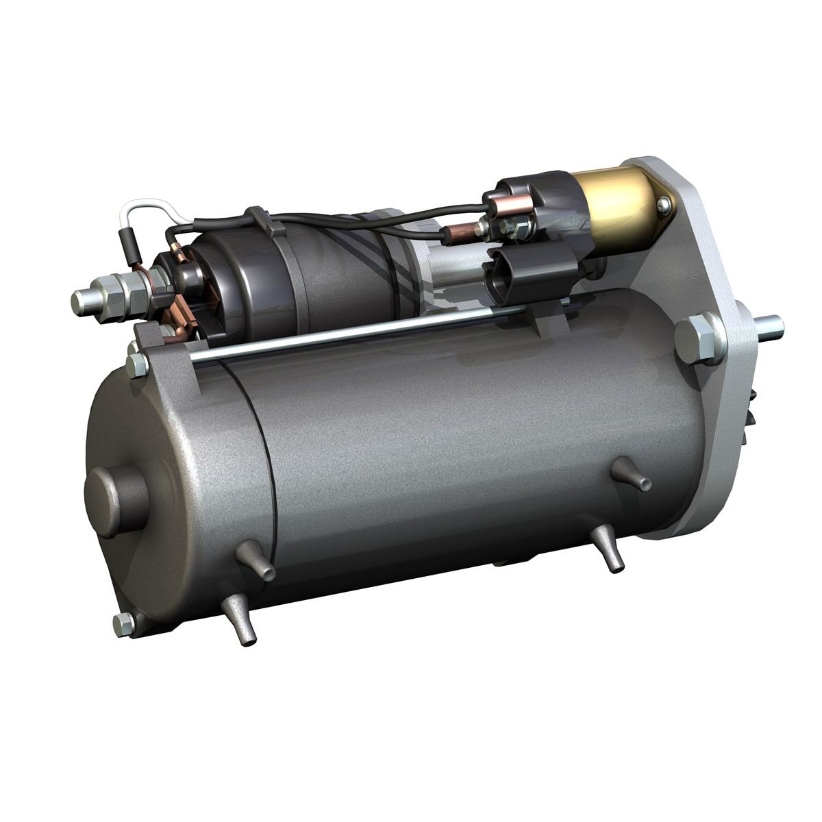 starter motor 03 3d model 3ds fbx c4d lwo obj 201941