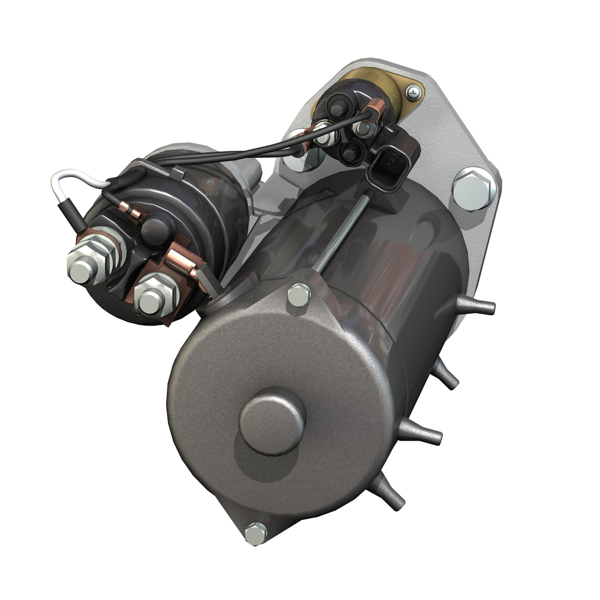 starter motor 03 3d model 3ds fbx c4d lwo obj 201942