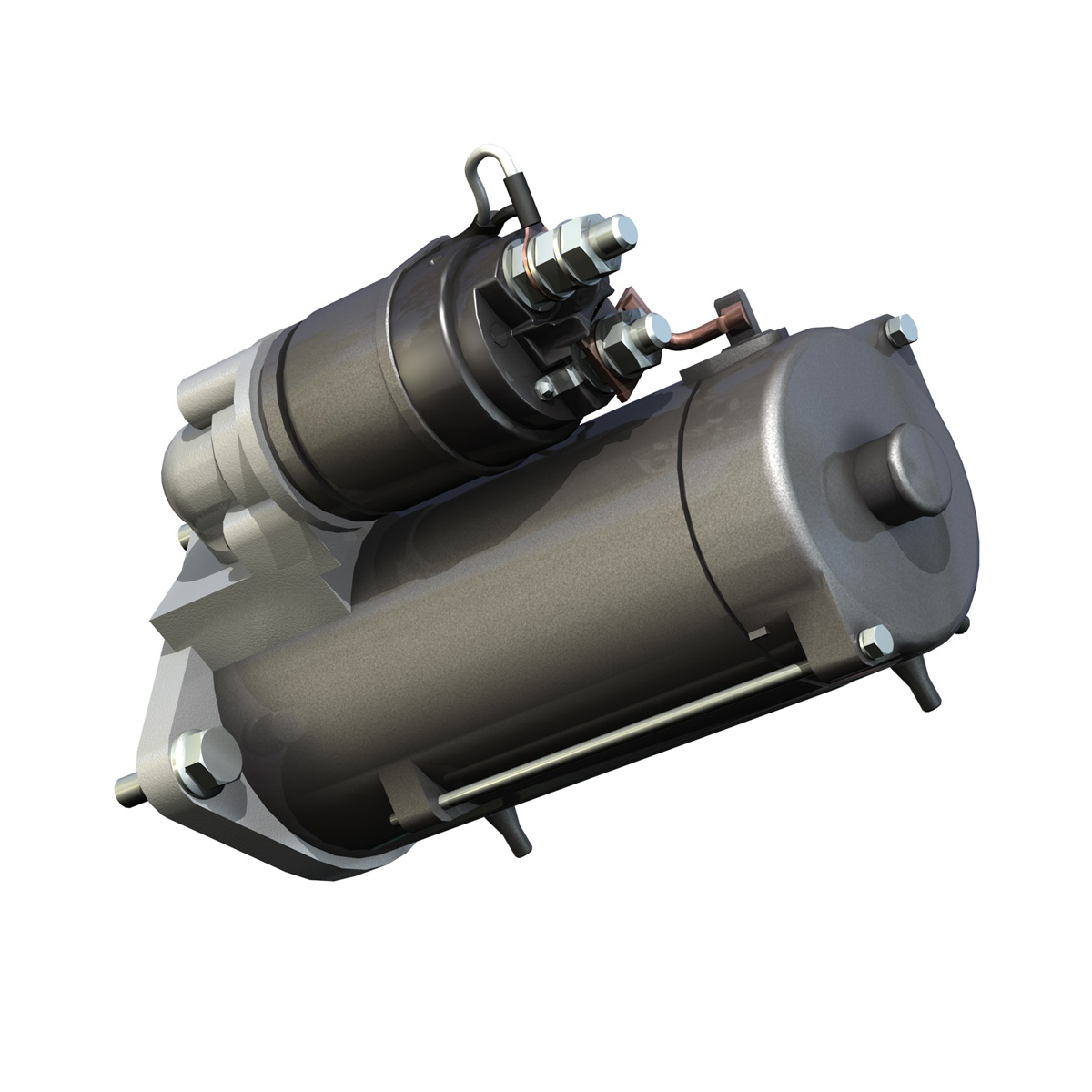 starter motor 03 3d model 3ds fbx c4d lwo obj 201943