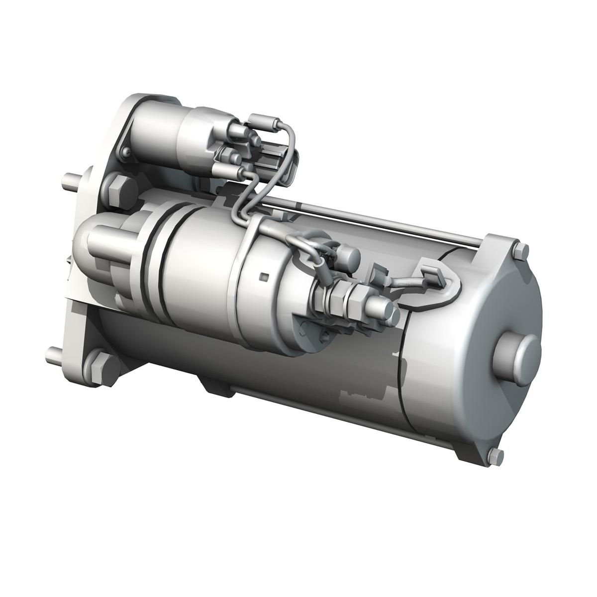 starter motor 03 3d model 3ds fbx c4d lwo obj 201944
