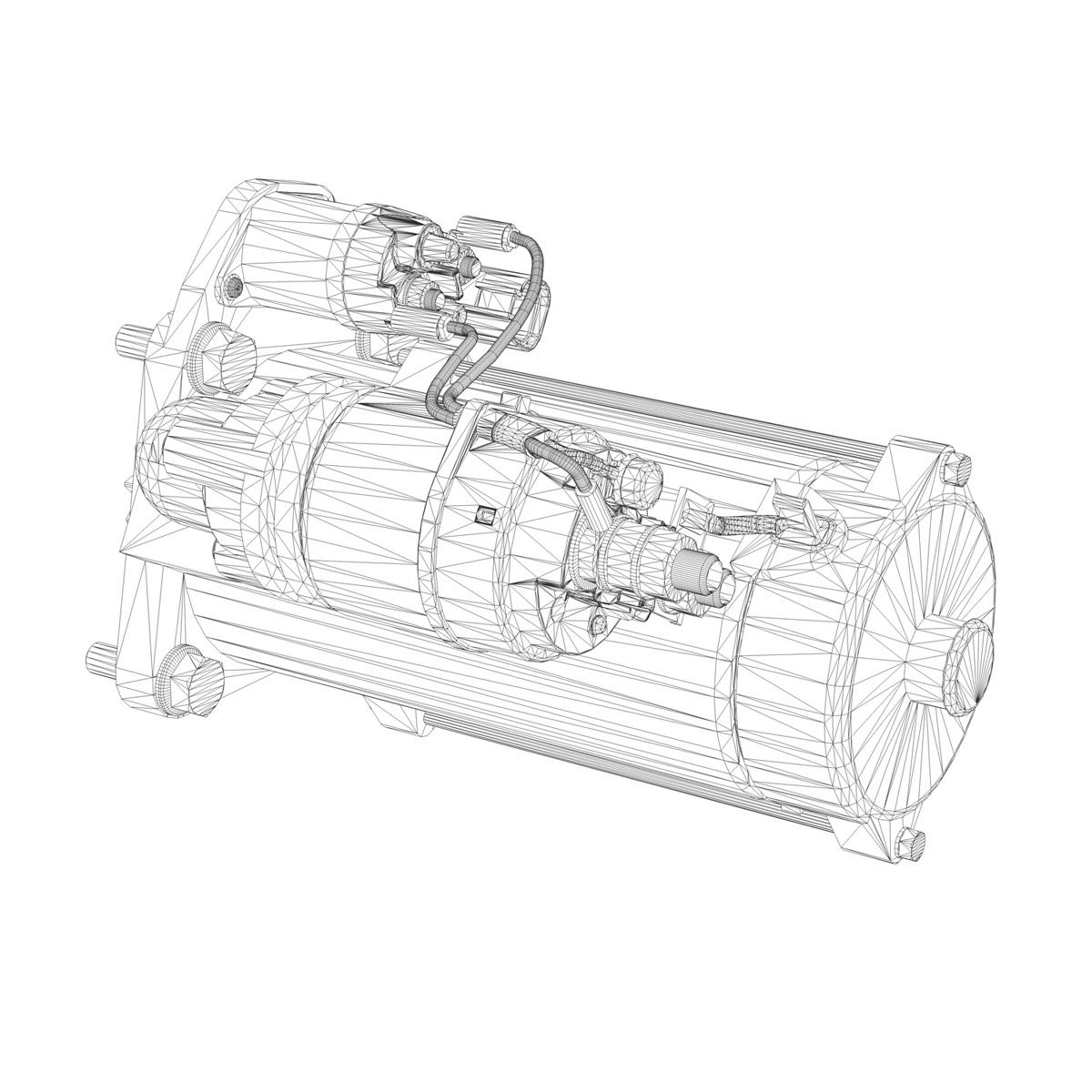starter motor 03 3d model 3ds fbx c4d lwo obj 201945