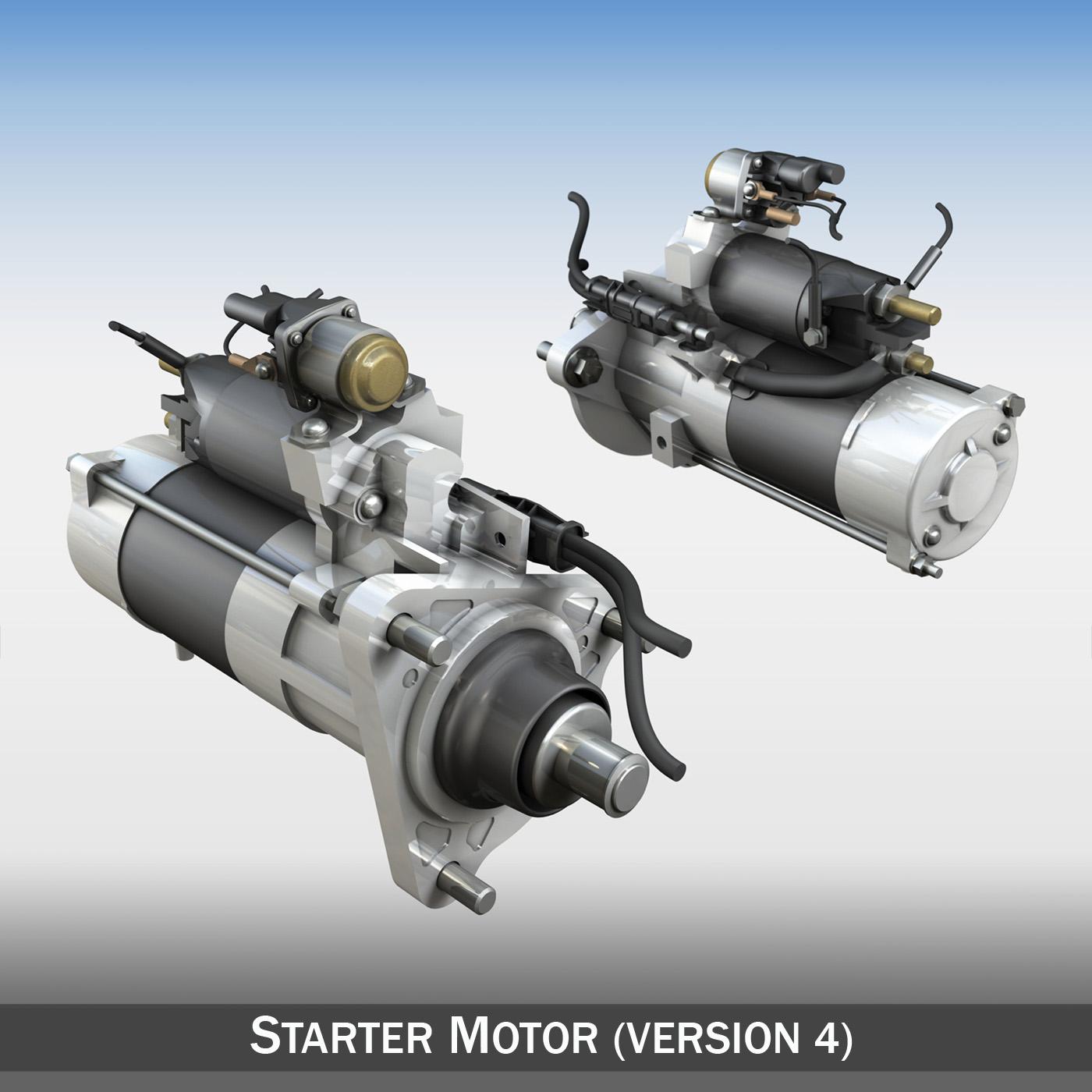 starter motor 04 3d model 3ds fbx c4d lwo obj 201947