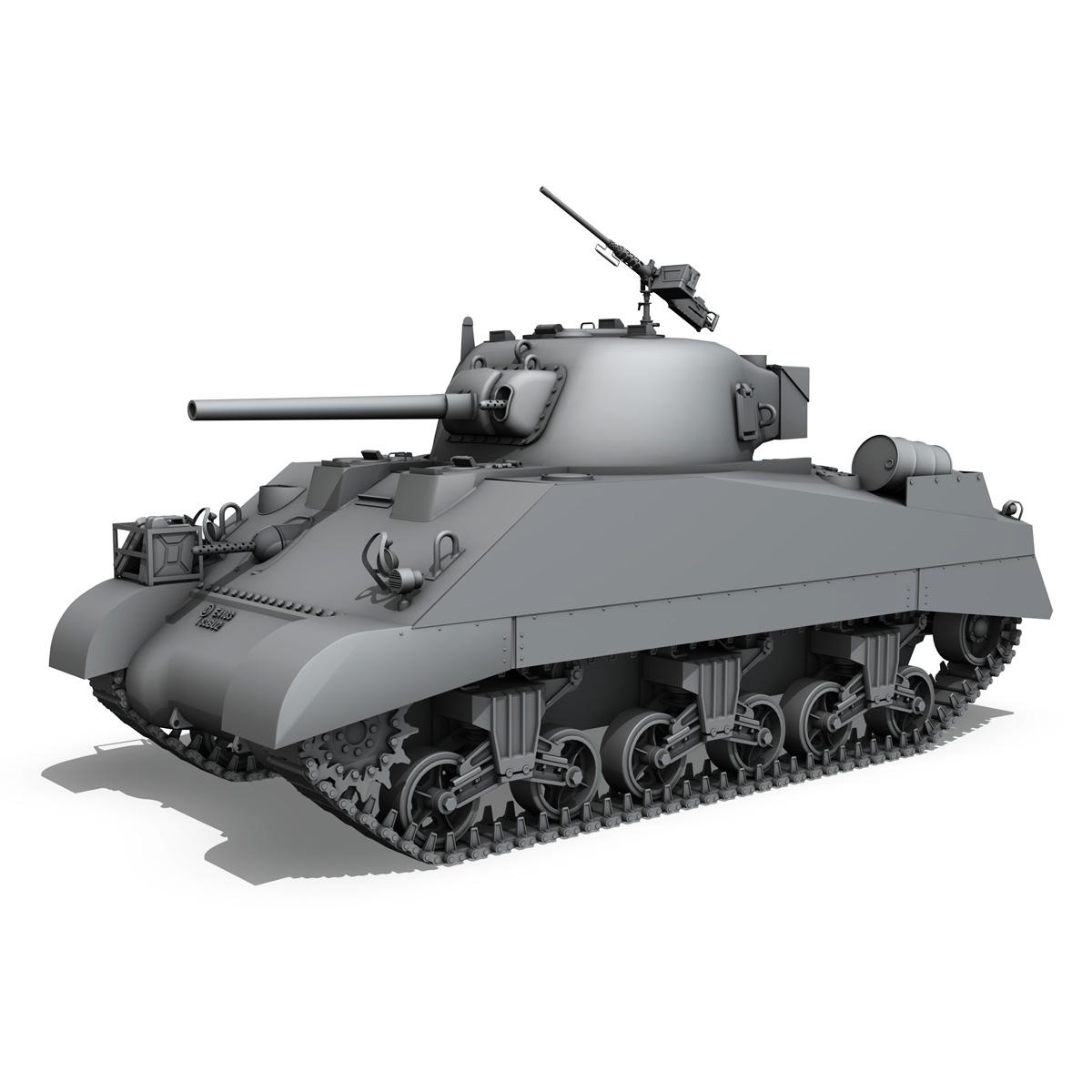 m4 sherman mk iii - britu armija 3d modelis 3ds fbx c4d lwo obj 201965