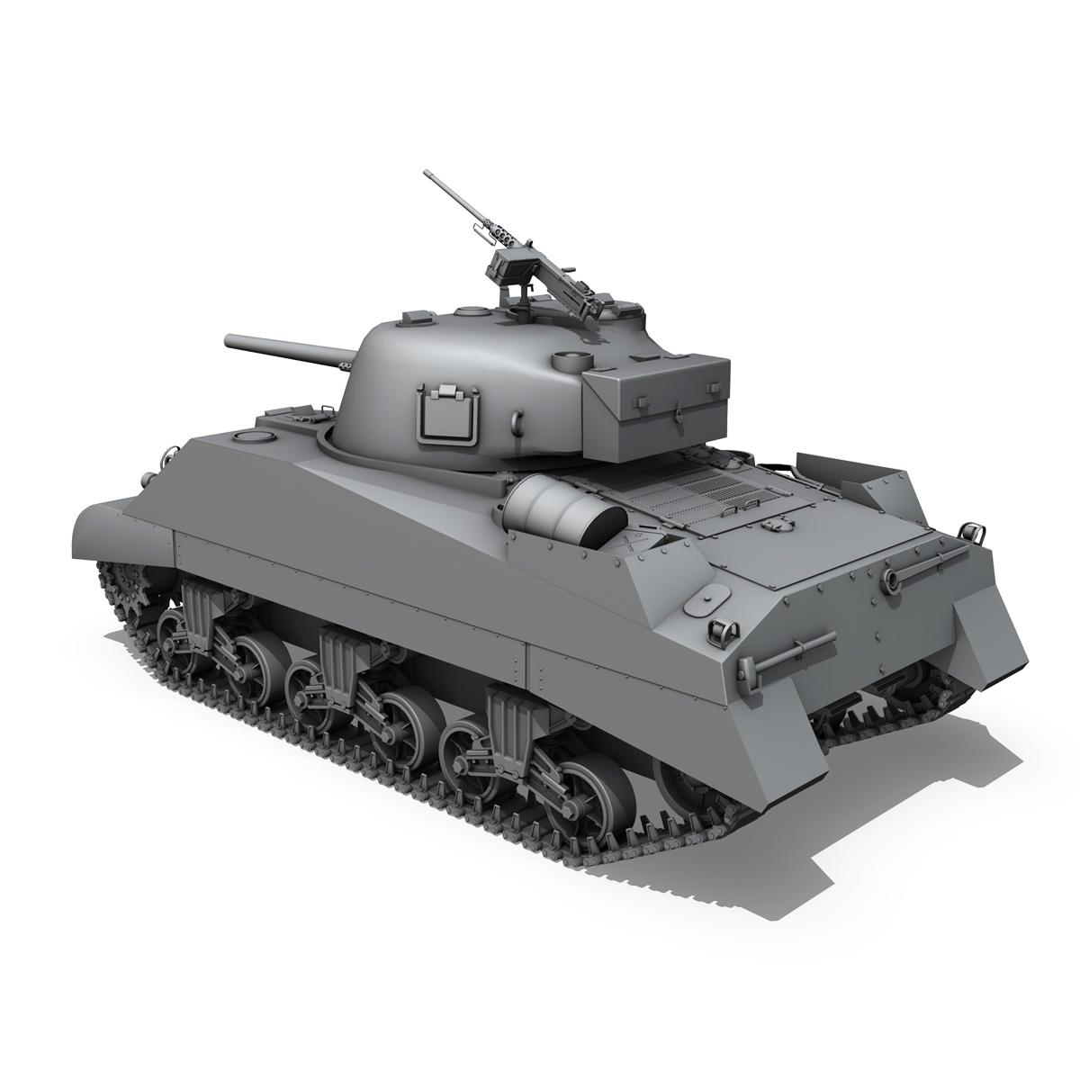 m4 sherman mk iii - britu armija 3d modelis 3ds fbx c4d lwo obj 201966