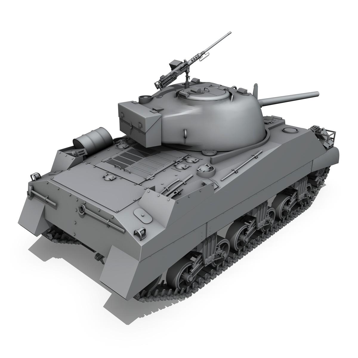 m4 sherman mk iii - britu armija 3d modelis 3ds fbx c4d lwo obj 201967