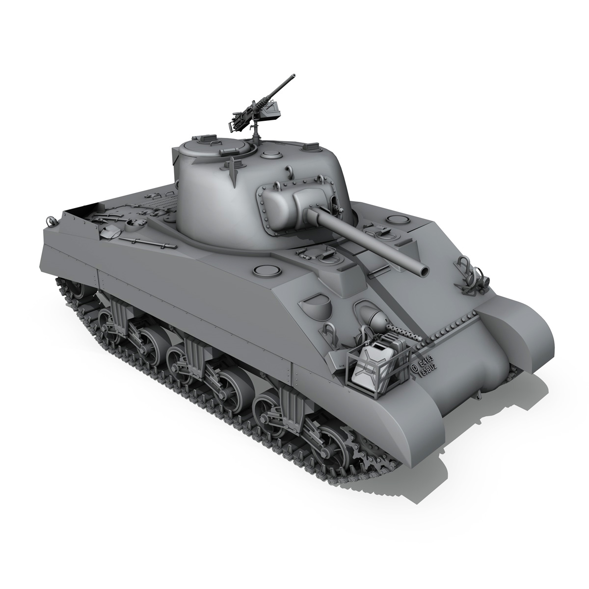 m4 sherman mk iii - britu armija 3d modelis 3ds fbx c4d lwo obj 201969