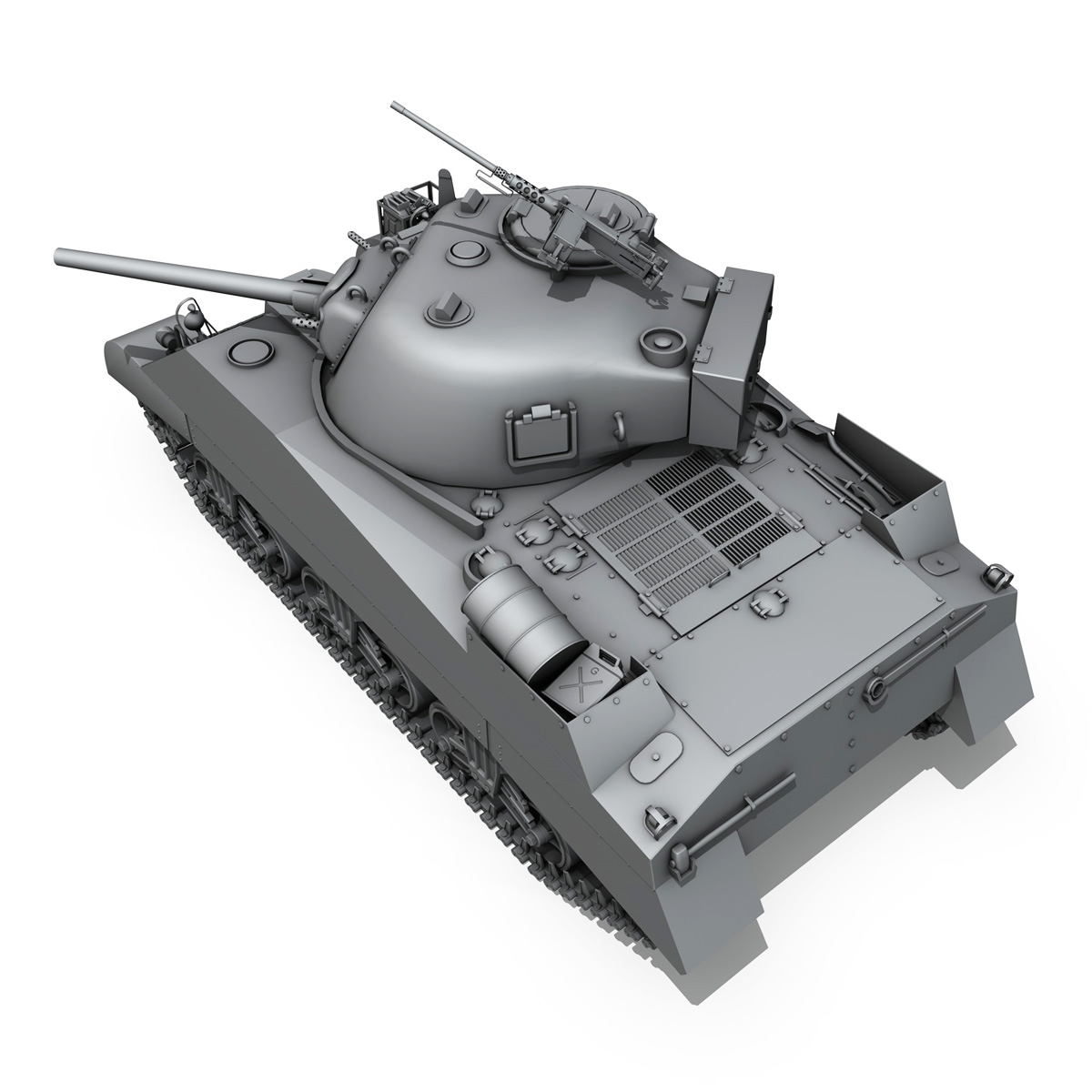 m4 sherman mk iii - britu armija 3d modelis 3ds fbx c4d lwo obj 201970