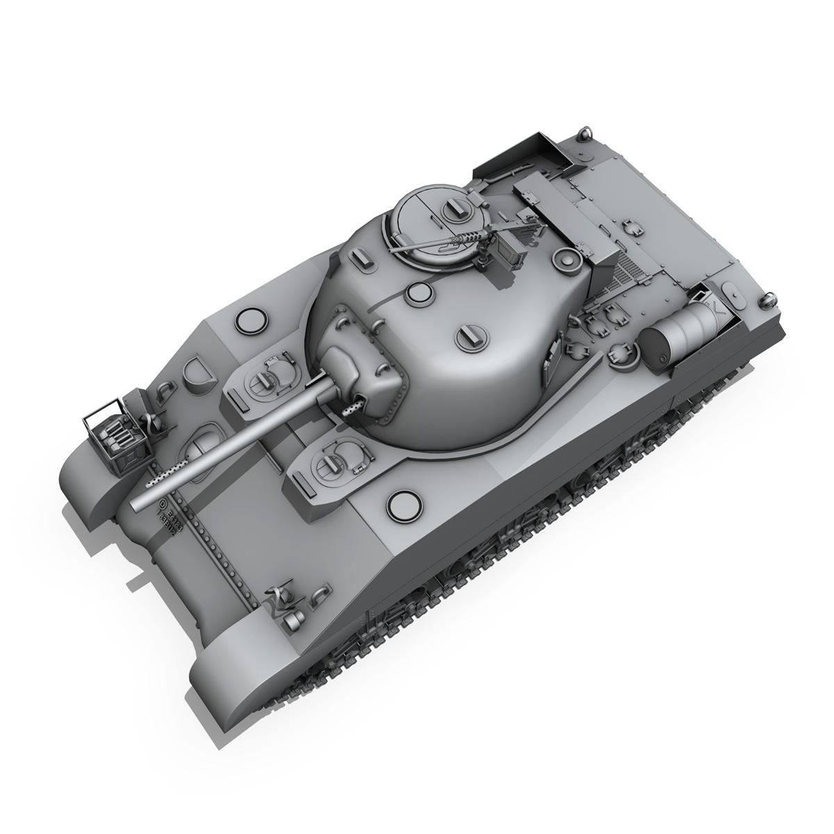 m4 sherman mk iii - britu armija 3d modelis 3ds fbx c4d lwo obj 201971