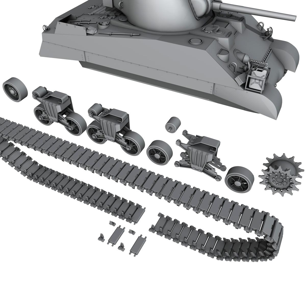 m4 sherman mk iii - britu armija 3d modelis 3ds fbx c4d lwo obj 201972