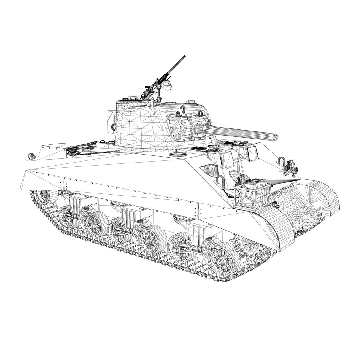 m4 sherman mk iii - britu armija 3d modelis 3ds fbx c4d lwo obj 201973