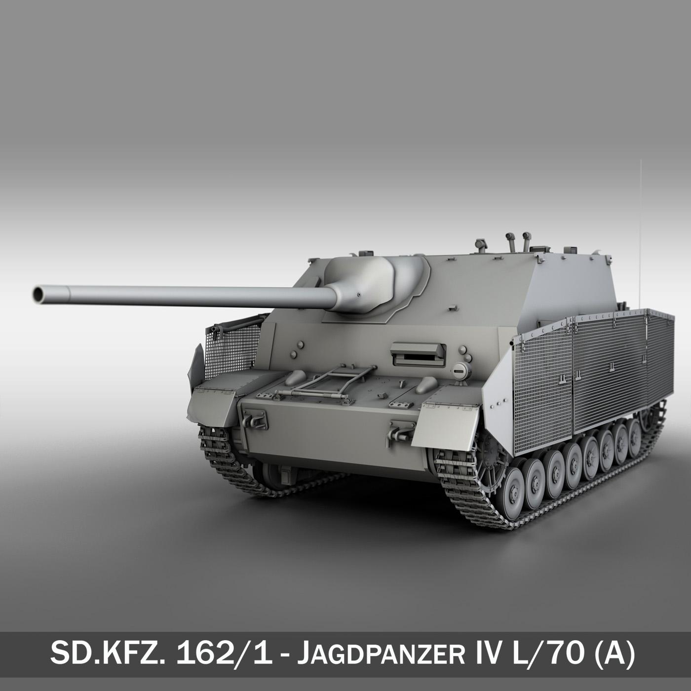 jagdpanzer iv l / 70 (a) - sd.kfz 162 / 1 3d modelis 3ds fbx c4d lwo obj 202007