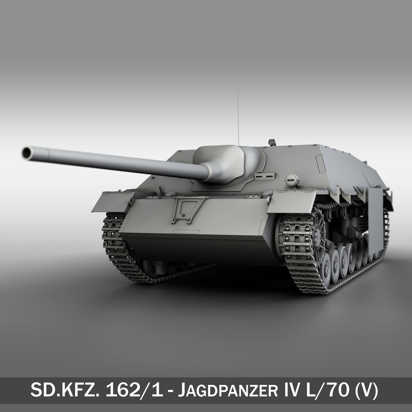 jagdpanzer iv l/70 (v) late production 3d model 3ds fbx c4d lwo obj 202018