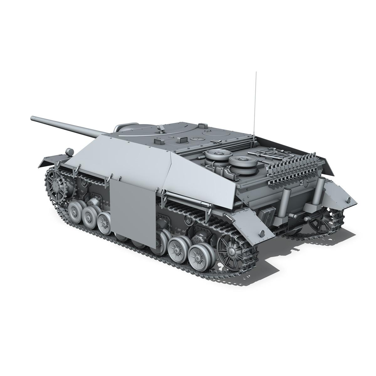 jagdpanzer iv l/70 (v) late production 3d model 3ds fbx c4d lwo obj 202021