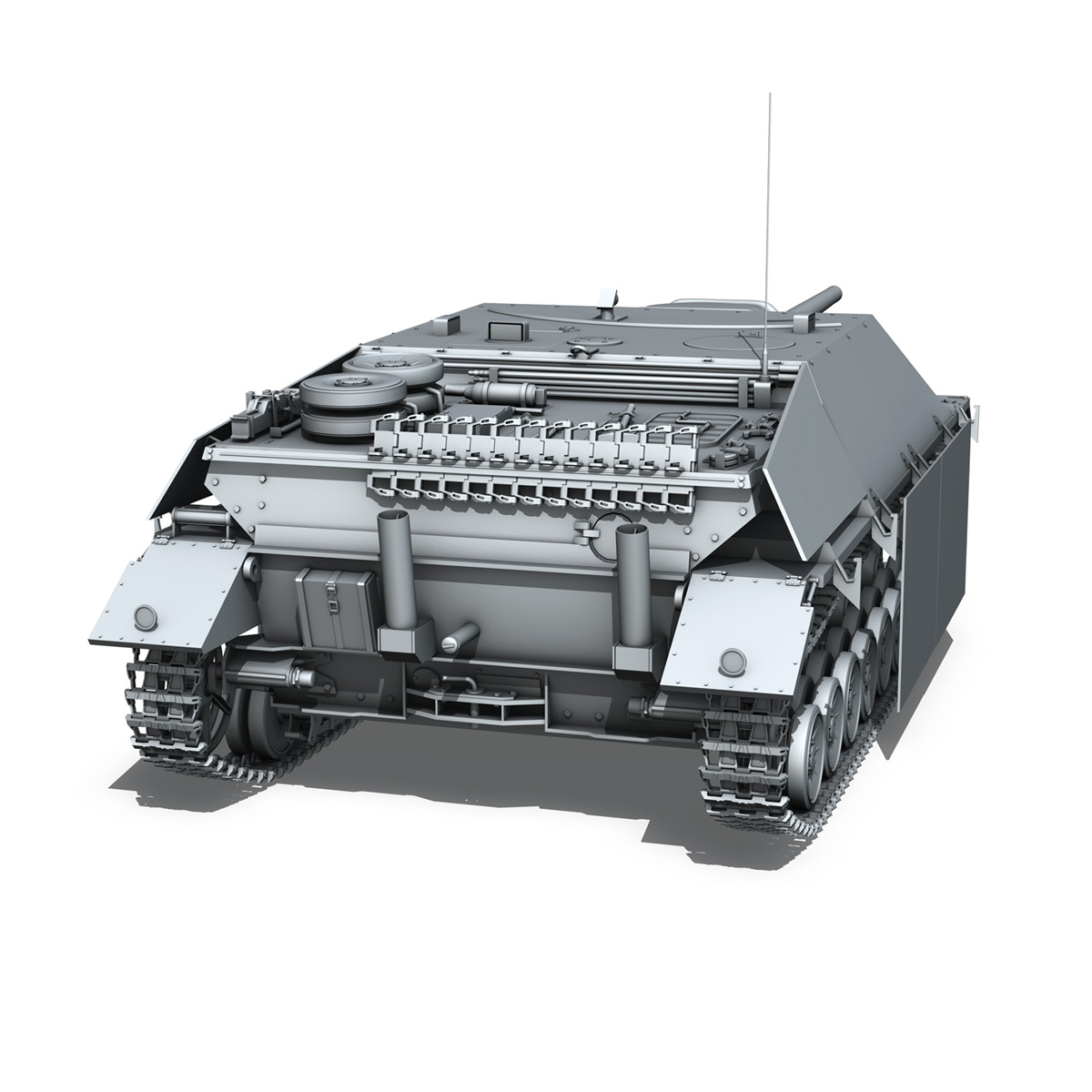 jagdpanzer iv l/70 (v) late production 3d model 3ds fbx c4d lwo obj 202022