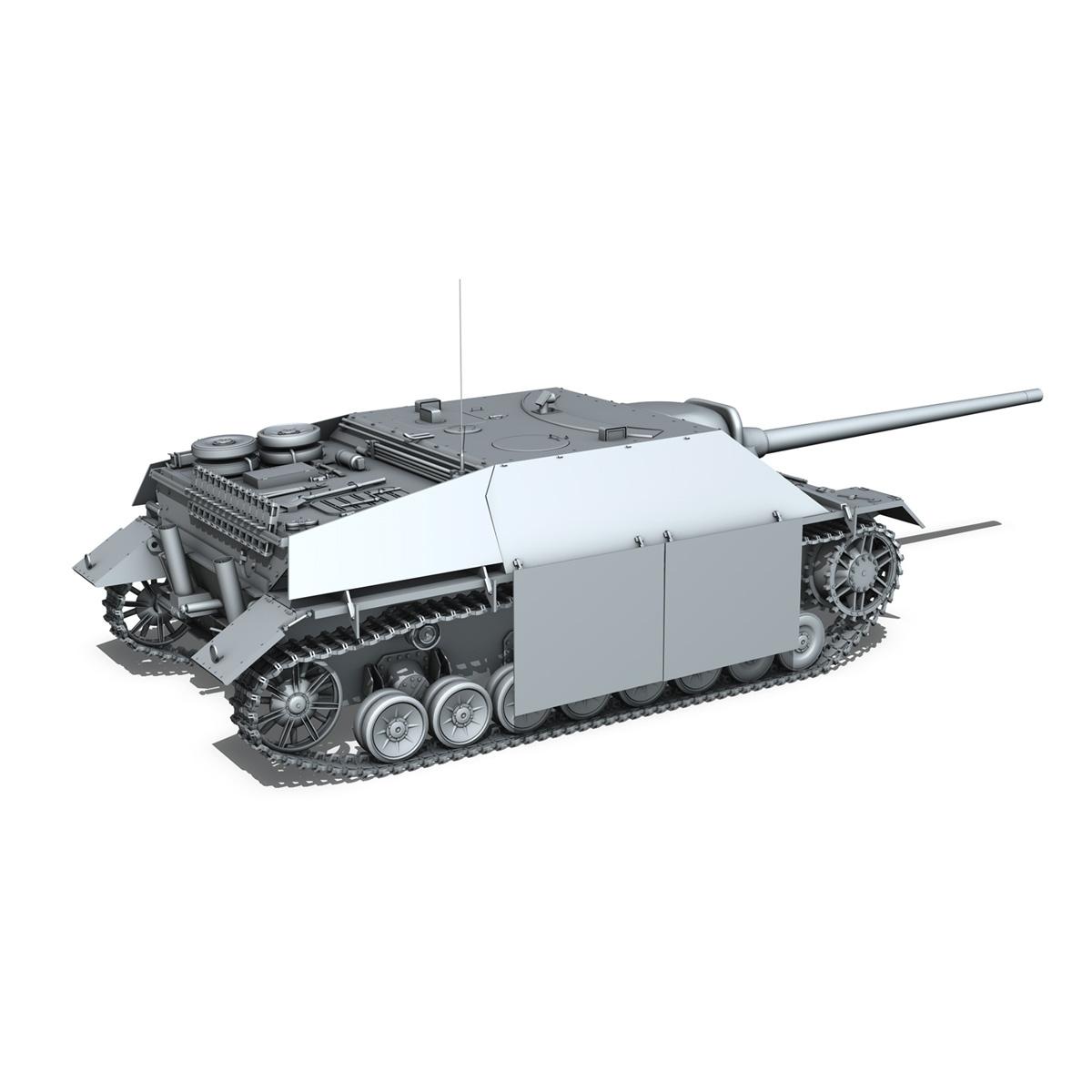 jagdpanzer iv l/70 (v) late production 3d model 3ds fbx c4d lwo obj 202023