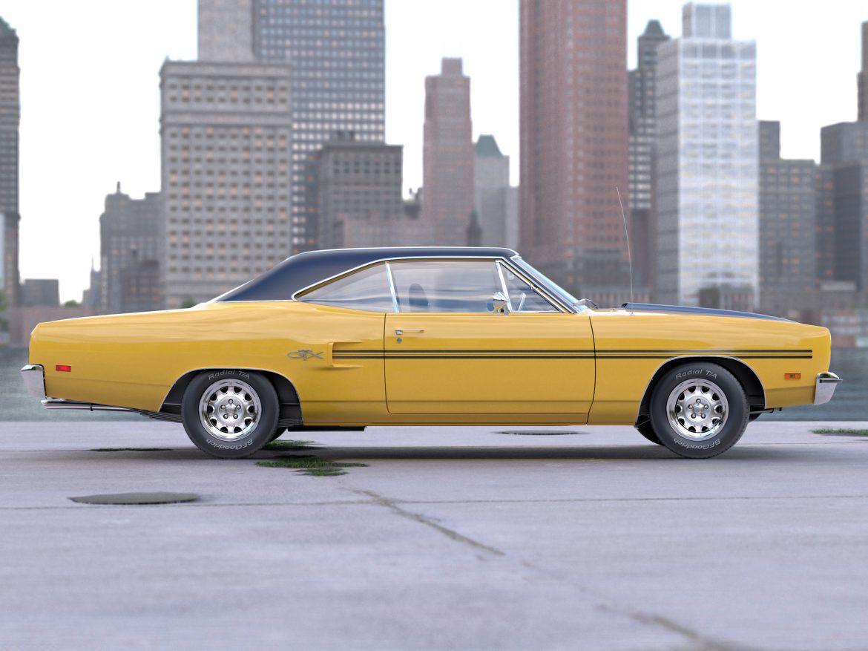 plymouth gtx 1970 3d modell 3ds max fbx c4d obj 202057