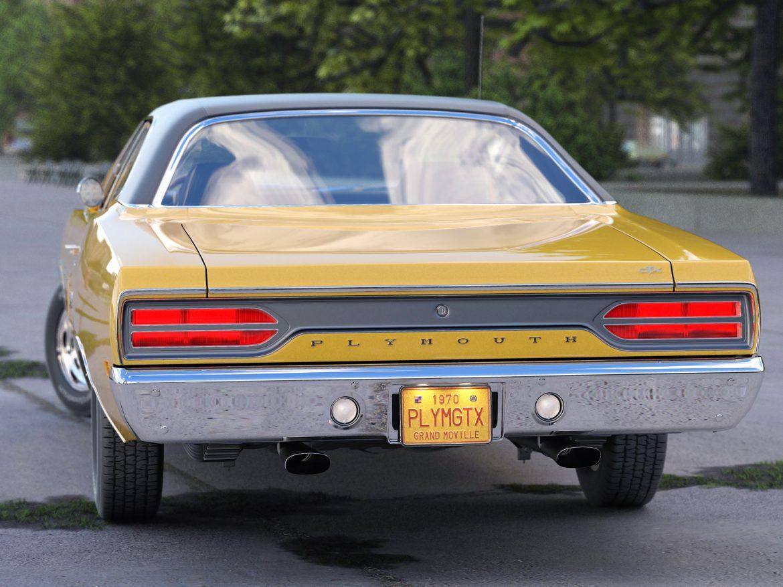 plymouth gtx 1970 3d modell 3ds max fbx c4d obj 202058