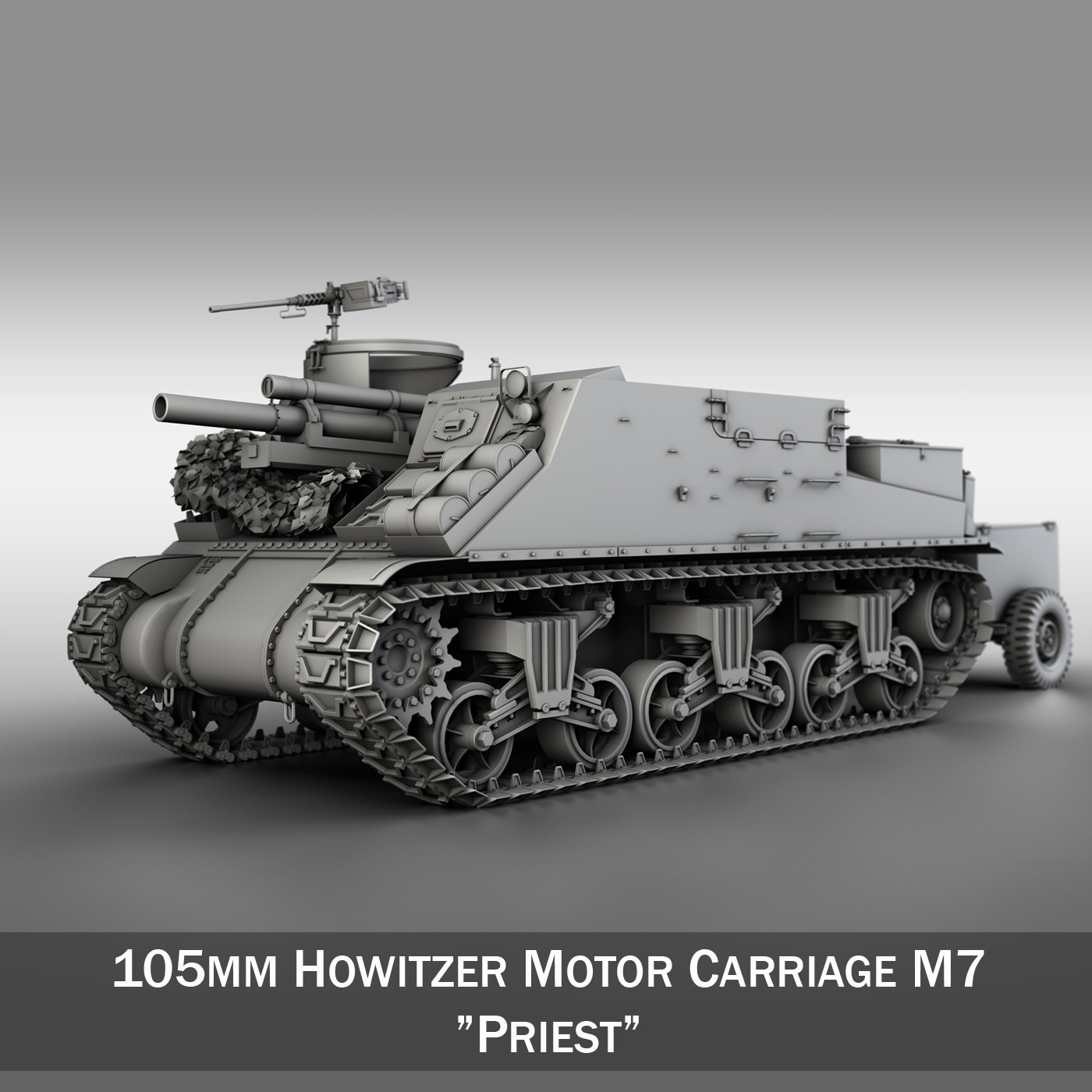 m7 priest – howitzer motor carriage 3d model 3ds fbx c4d lwo obj 202071