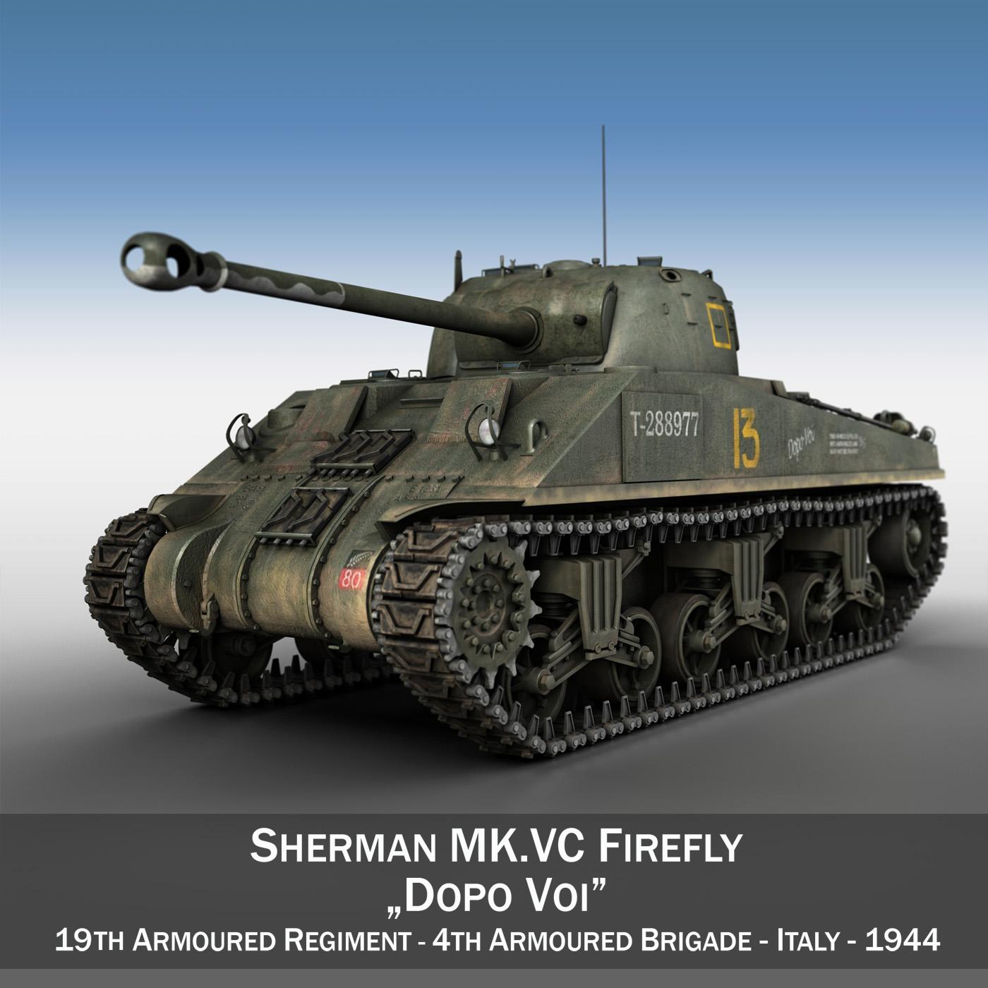 sherman mk vc firefly - dopo var 3d modelis 3ds fbx c4d lwo obj 202154