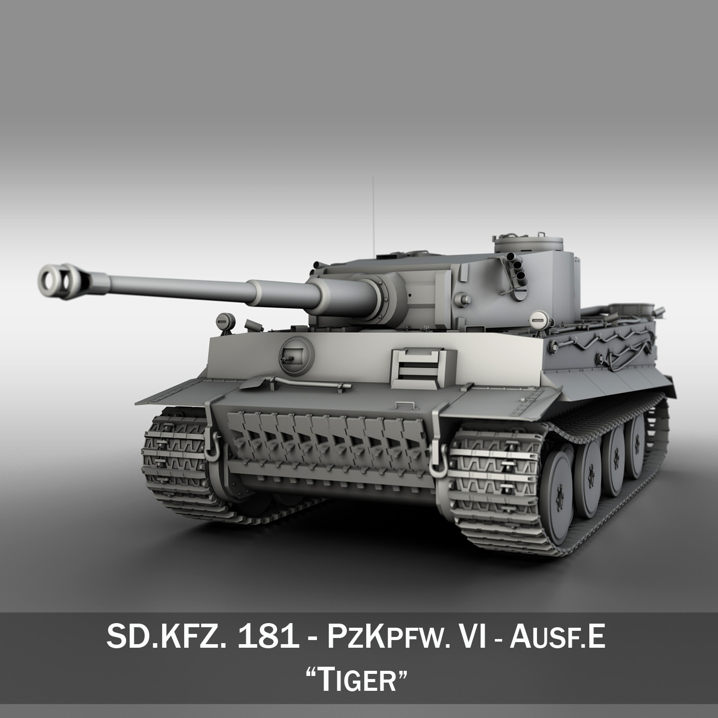 panzer vi – tiger – early production 3d model 3ds fbx c4d lwo obj 202258
