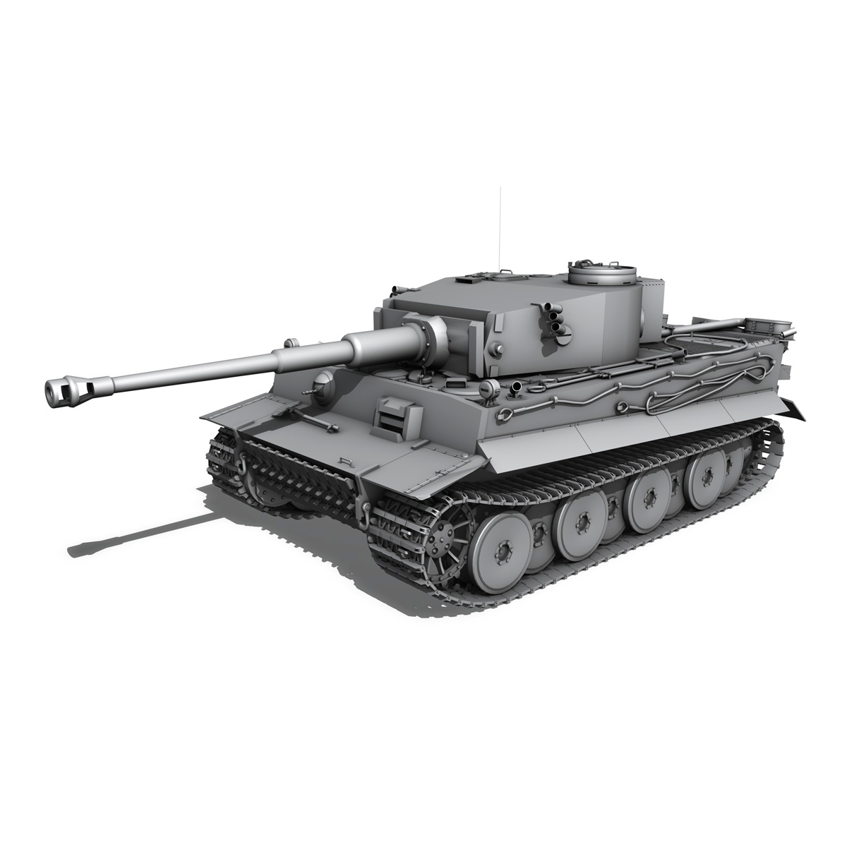 panzer vi – tiger – early production 3d model 3ds fbx c4d lwo obj 202259