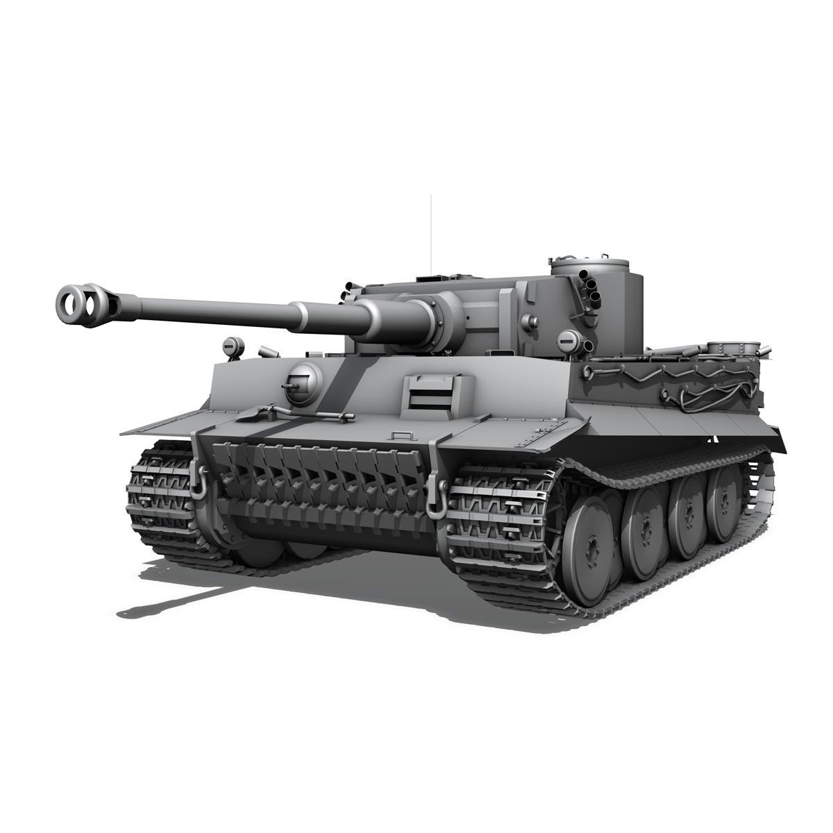 panzer vi – tiger – early production 3d model 3ds fbx c4d lwo obj 202260