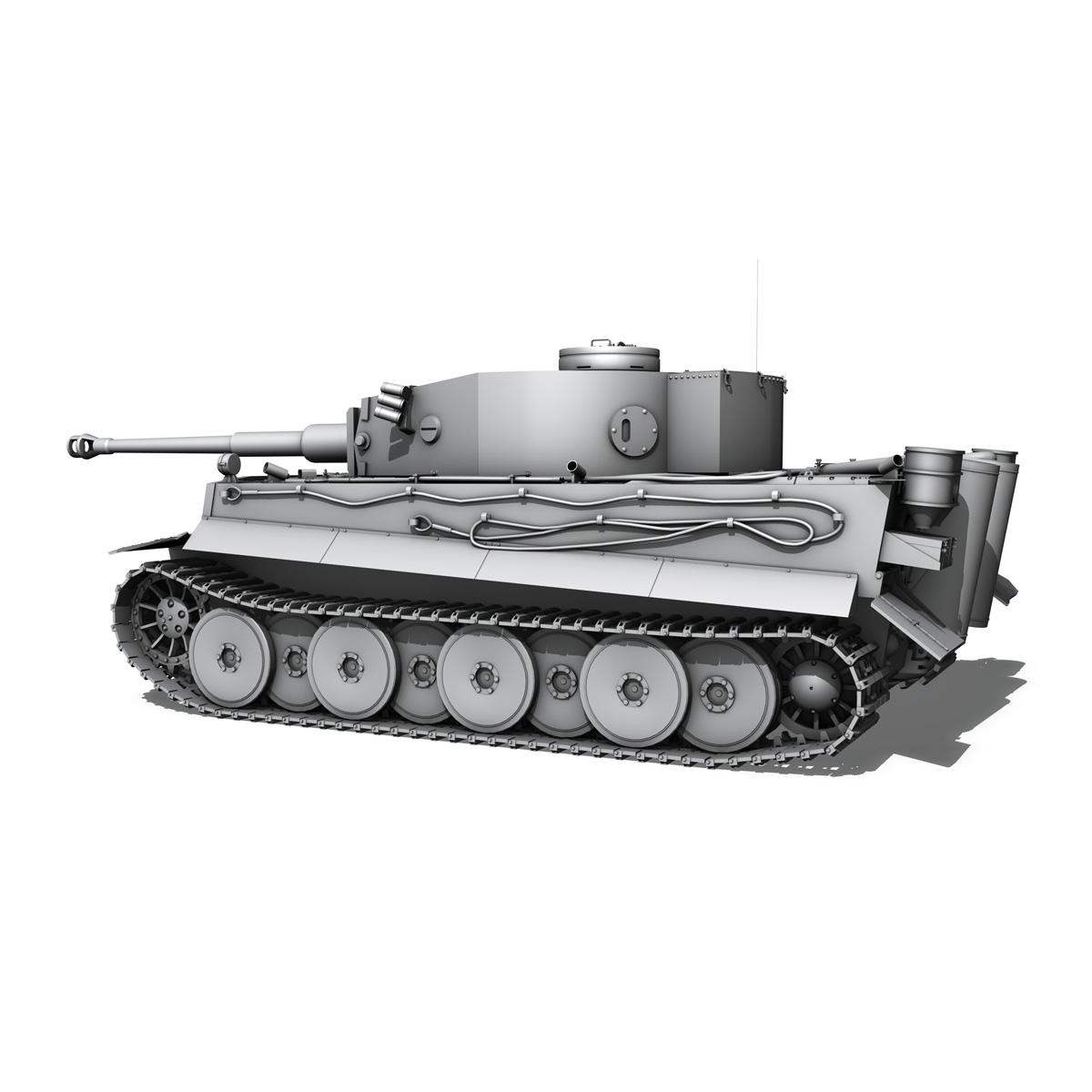 panzer vi – tiger – early production 3d model 3ds fbx c4d lwo obj 202261