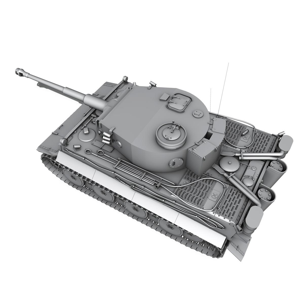 panzer vi – tiger – early production 3d model 3ds fbx c4d lwo obj 202262