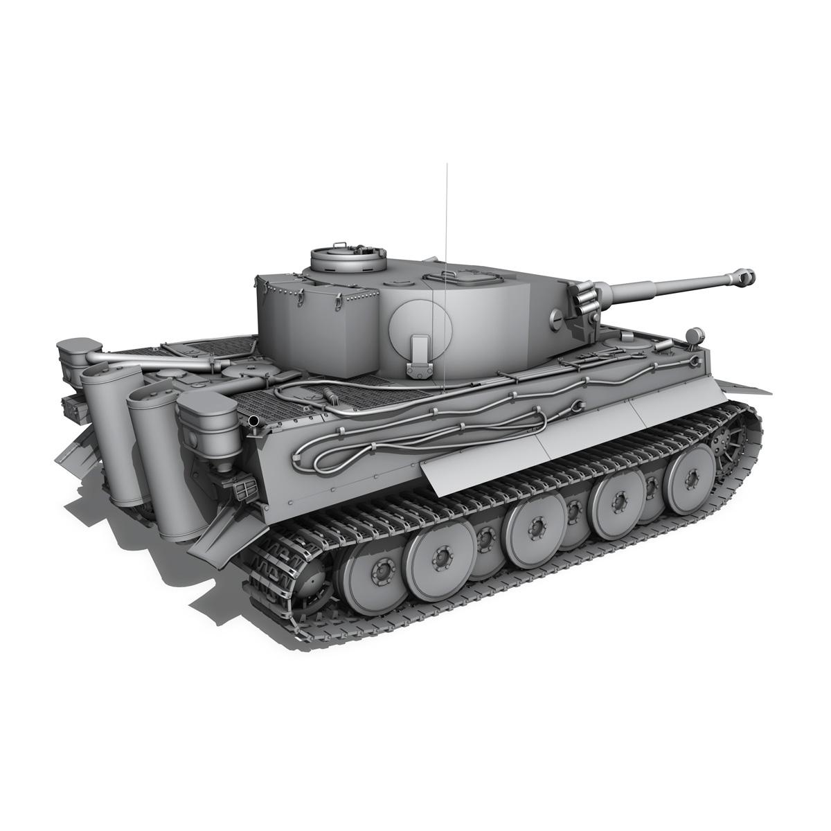 panzer vi – tiger – early production 3d model 3ds fbx c4d lwo obj 202263