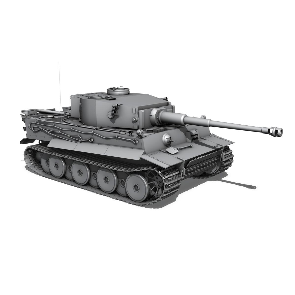 panzer vi – tiger – early production 3d model 3ds fbx c4d lwo obj 202264