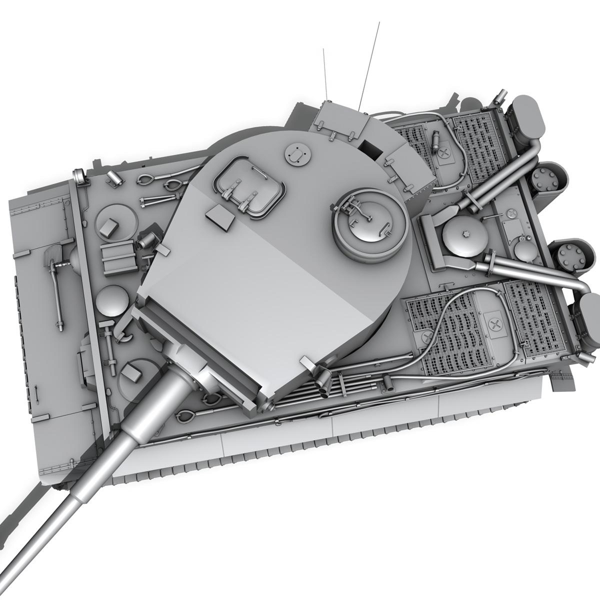 panzer vi – tiger – early production 3d model 3ds fbx c4d lwo obj 202265