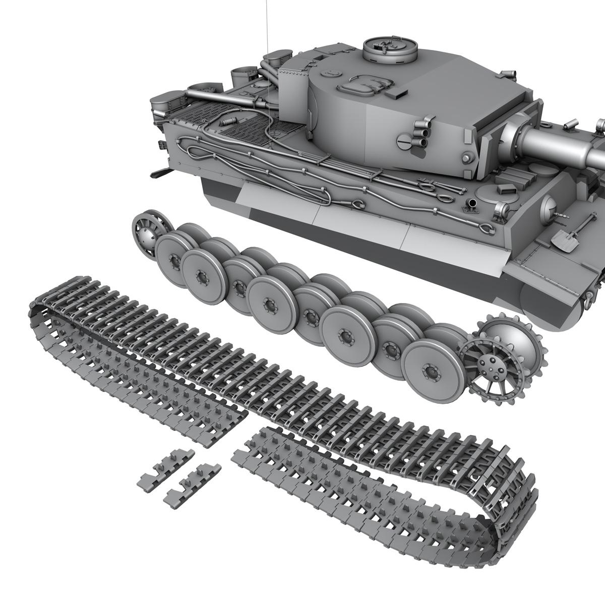 panzer vi – tiger – early production 3d model 3ds fbx c4d lwo obj 202266