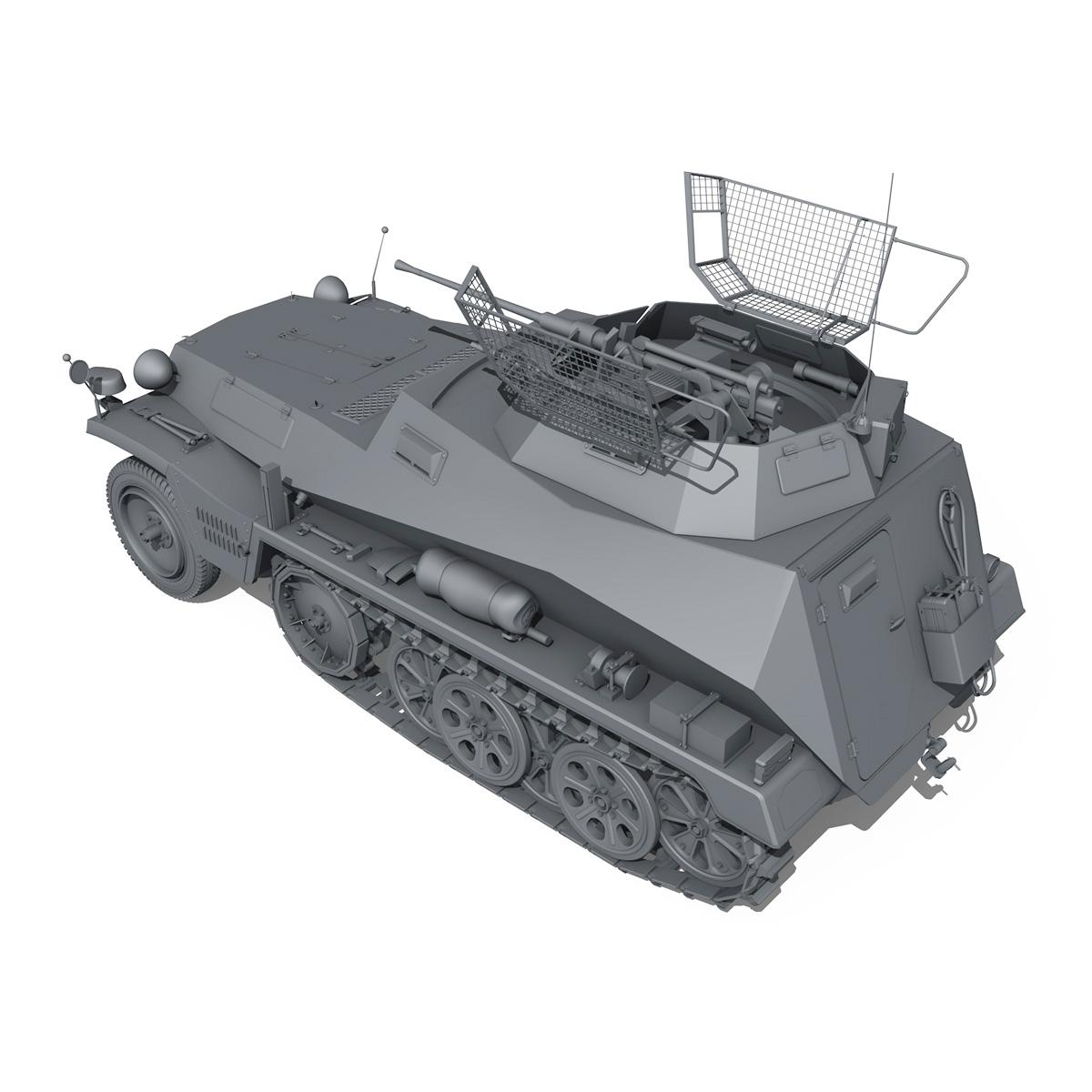 sd.kfz 250/9 – half-track reconnaissance vehicle 3d model 3ds fbx c4d lwo obj 202271