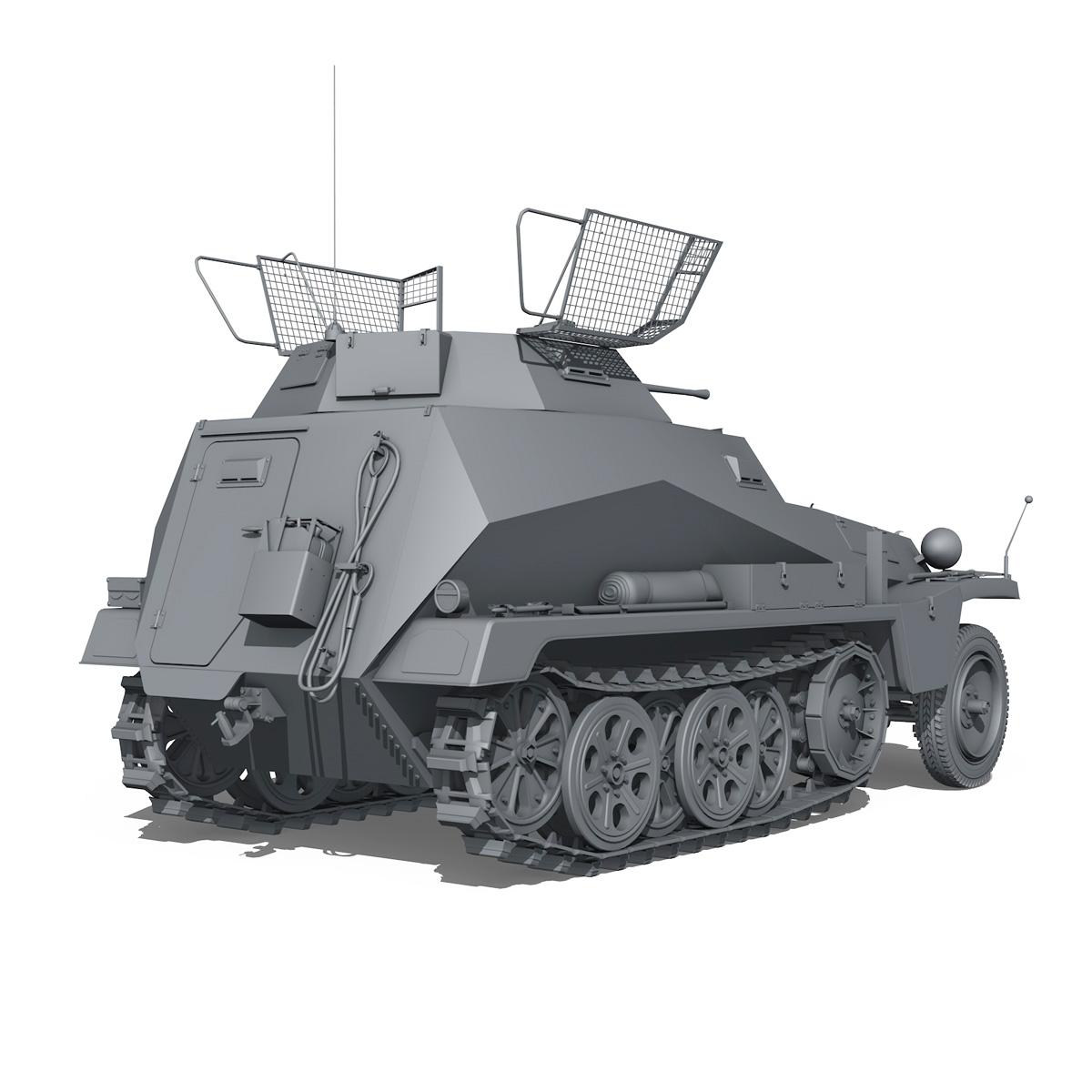 sd.kfz 250/9 – half-track reconnaissance vehicle 3d model 3ds fbx c4d lwo obj 202272