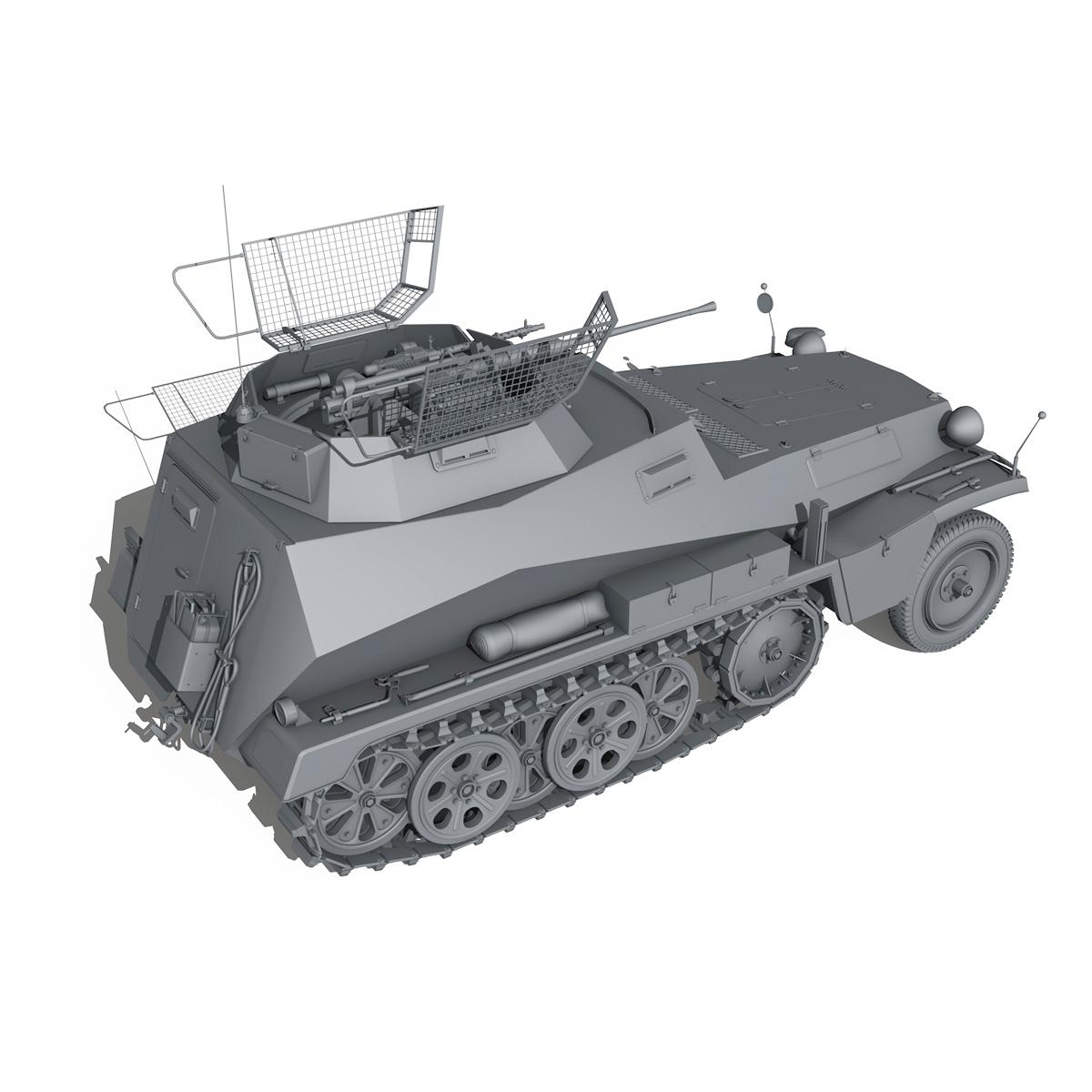 sd.kfz 250/9 – half-track reconnaissance vehicle 3d model 3ds fbx c4d lwo obj 202273