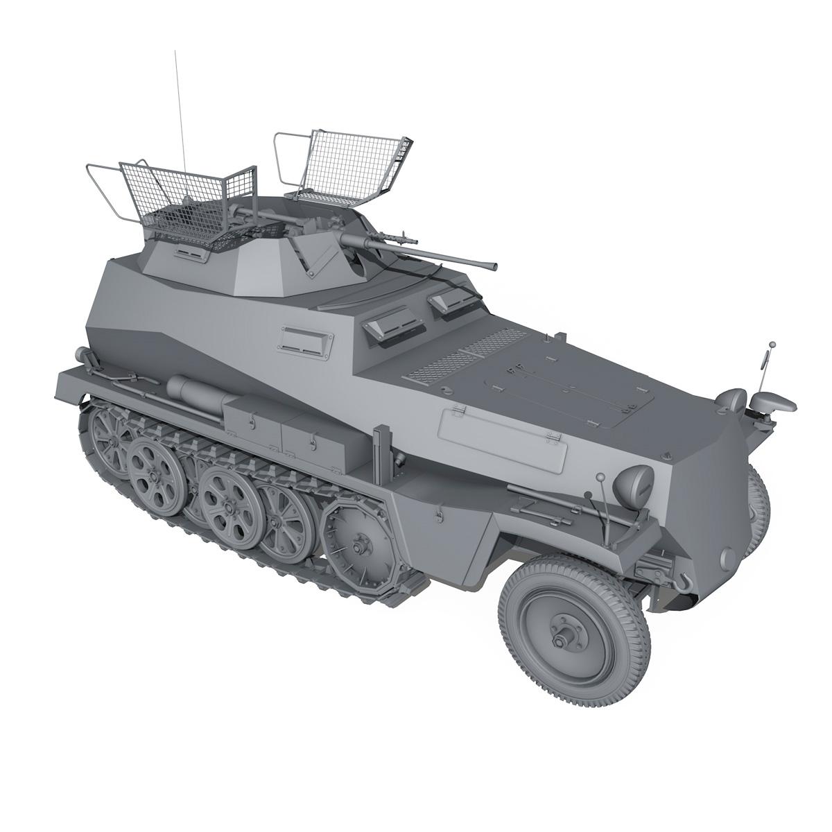 sd.kfz 250/9 – half-track reconnaissance vehicle 3d model 3ds fbx c4d lwo obj 202274