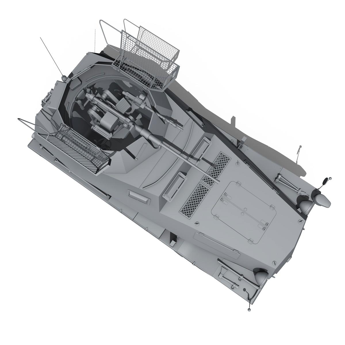 sd.kfz 250/9 – half-track reconnaissance vehicle 3d model 3ds fbx c4d lwo obj 202275