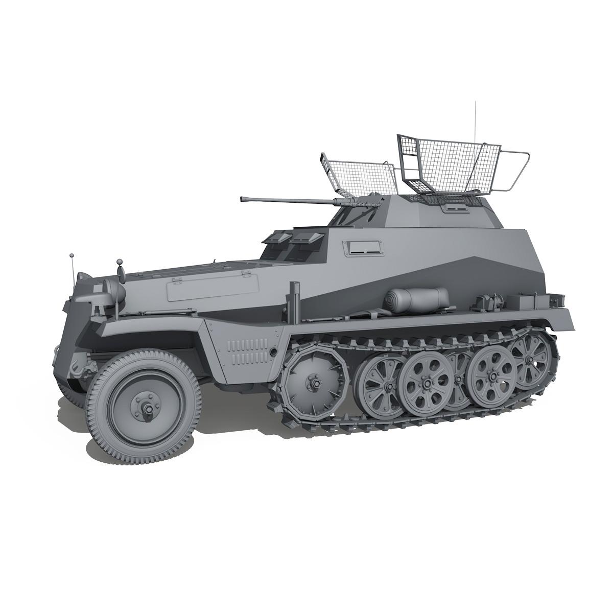 sd.kfz 250/9 – half-track reconnaissance vehicle 3d model 3ds fbx c4d lwo obj 202276