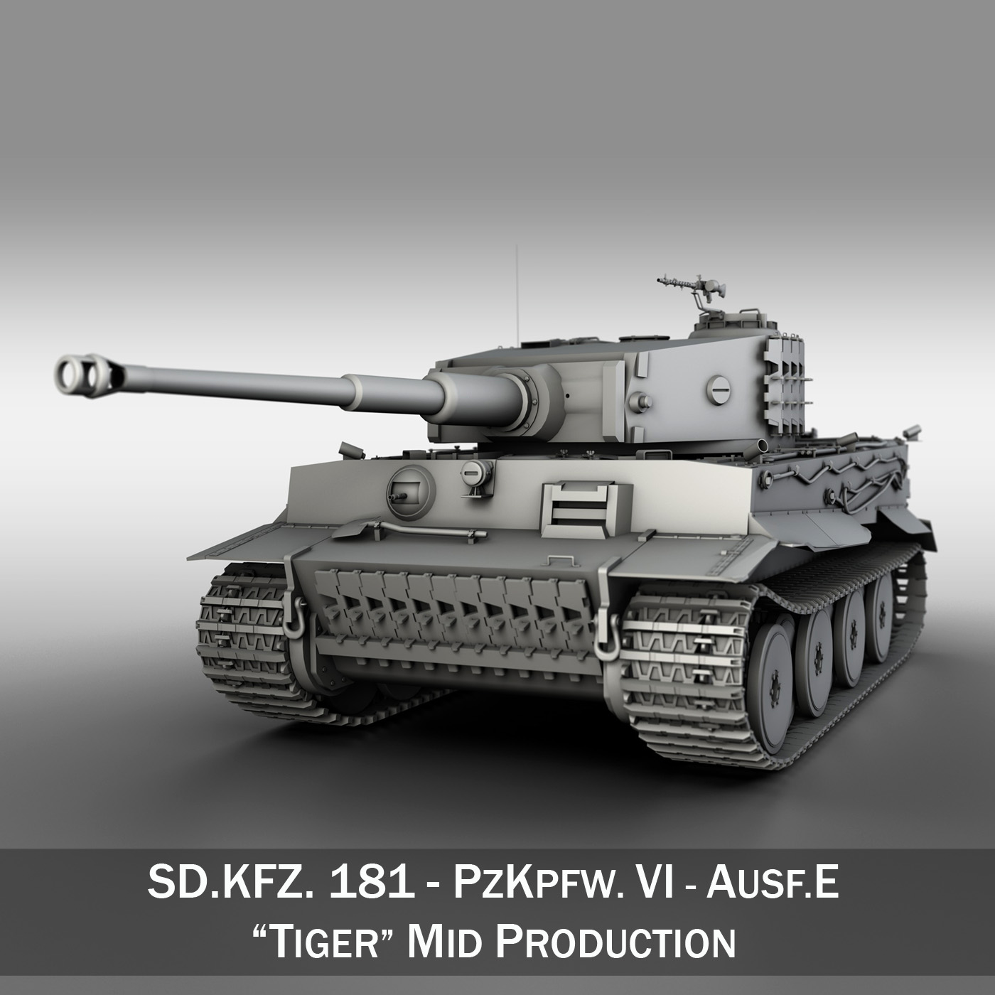 panzer vi – tiger – mid production 3d model 3ds fbx c4d lwo obj 202291